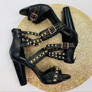 Steve Madden Juliana Strappy pearl sandals sz 10